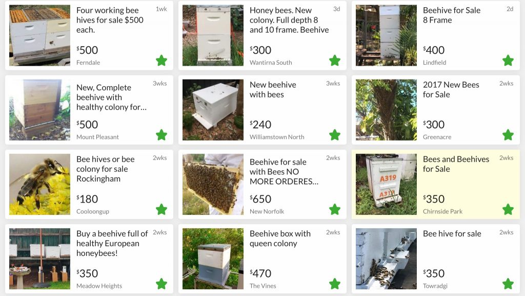 established beehives for sale on gumtree