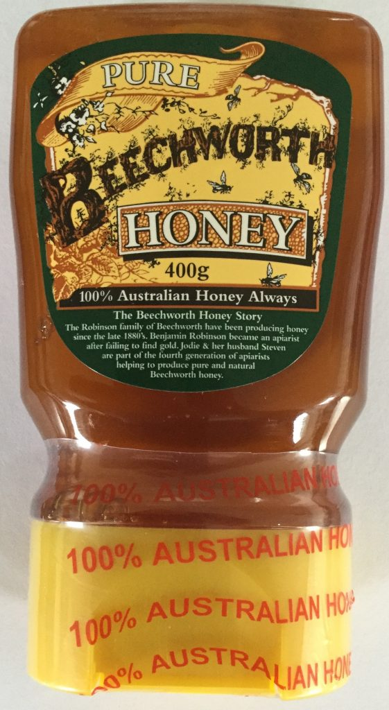 a well designed honey label