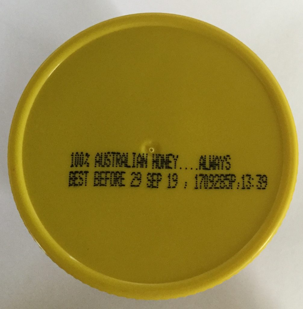 best before date on honey