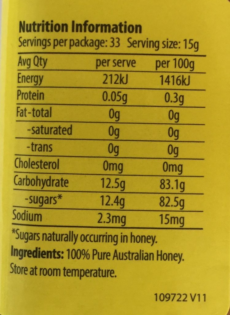 ingredients of honey