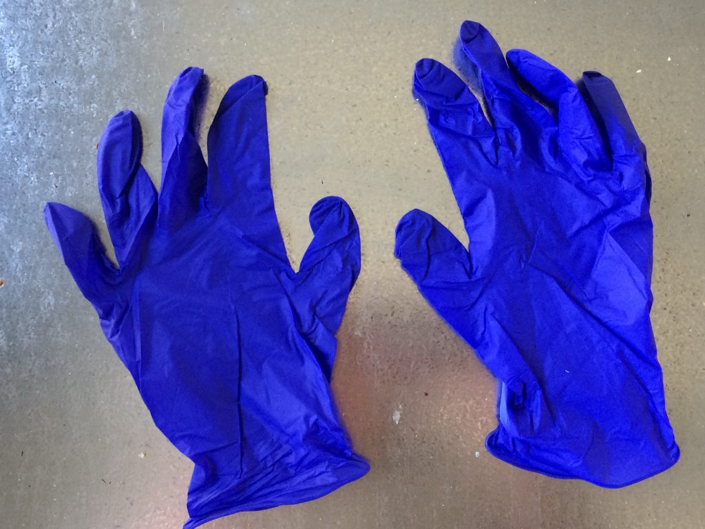 Nitrile gloves are ideal for beekeeping