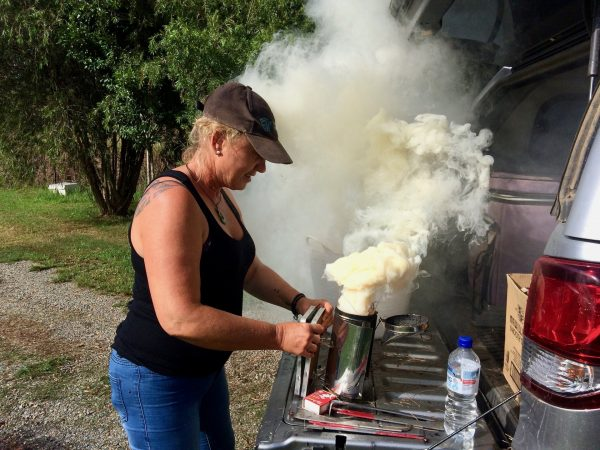 Learn how to light a beekeeper's smoker